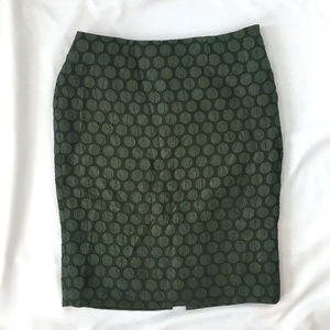 Anthropologie Maeve Size 4 dark green pencil skirt